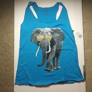 NWT Blue Elephant Tank Top - Wound Up, Size S